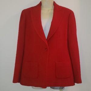 Red Talbots Wool blazer size 8